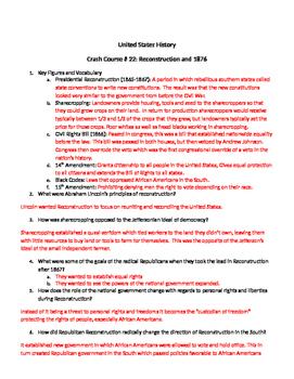 U.S. History Crash Course # 22