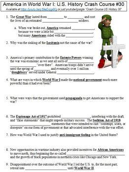 World War 1 Worksheet Teaching Resources Teachers Pay Teachers