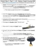 Crash Course U.S. History #35 (World War II, Part 1) worksheet