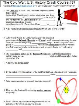 Crash Course U.S. History #37 (The Cold War) worksheet
