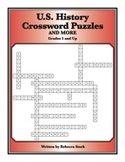 U.S. History Crossword Puzzles: Grades 5 and Up