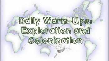 U.S. History Daily Warm-ups: Exploration and Colonization