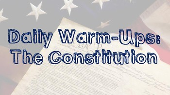 U.S. History Daily Warm-ups: The Constitution