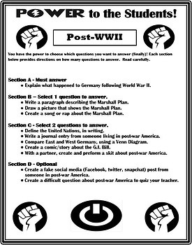 U.S. History ~ Power to the Students! ~ Differentiation Activity BUNDLE