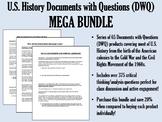 U.S. History Documents with Questions (DWQ) Mega Bundle - USH/APUSH