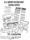 U.S. History Doodle Notes Bundle