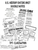 U.S. History Scribble Notes Bundle