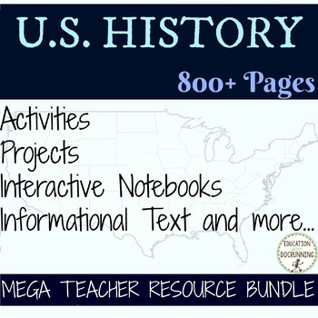 American History Colonies through Civil War & Reconstruction Bundle (MY LIBRARY)