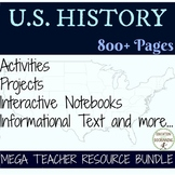 American History Colonies through Civil War Mega Bundle for U.S. History