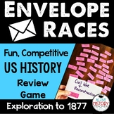 US History Review Game:  Envelope Vocab Races Great for ST