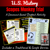 "U.S. History: Examining Both Sides of the Scopes ""Monkey"" Trial Activity"