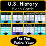 U.S. History Flash Cards for the Entire Year