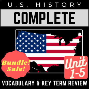 U.S. History Full 1-5 Vocab. Review PowerPoints: Colonial Era through WWI Era
