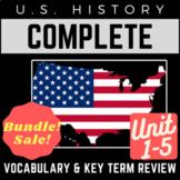 PowerPoints U.S. History Full 1-5 Vocab. Review: Colonial Era through WWI Era