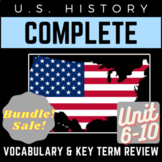 U.S. History Full 6-10 Vocab. Review PowerPoints: Jazz Age to Civil Rights