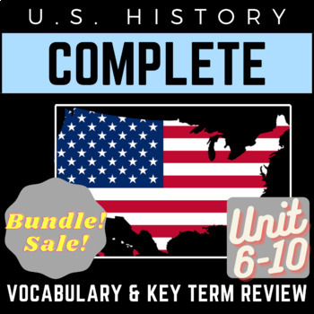 PowerPoints U.S. History Full 6-10 Vocab. Review: Jazz Age to Civil Rights