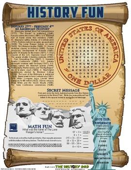 U.S. History Fun January 29 - February 4, 2017