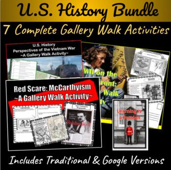 U.S. History: Gallery Walk Collection ~7 Complete Activities~