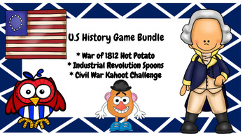 U.S History Game Bundle: War of 1812, Industrial Revolution, Civil War
