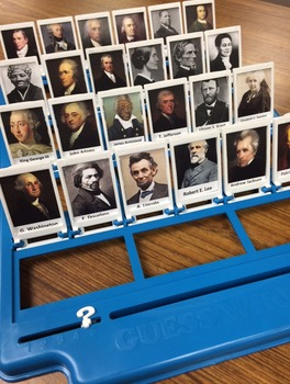 U.S. History Guess Who Cards