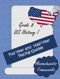 U.S. History I Grade 8 Pacing Guide