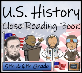 U.S. History 5th & 6th Grade Informational Text Activity Book - 12 Activities