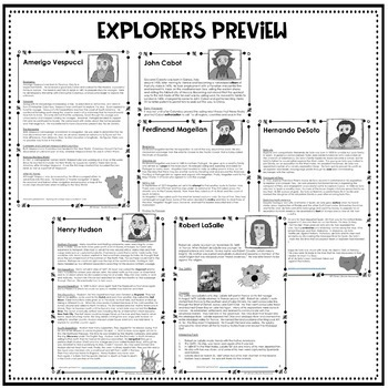 U.S. History Informational Text Booklets BUNDLE