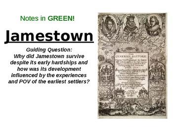 U.S History- Jamestown PPT and DBQ