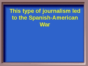 U.S. History Jeopardy Review:  Imperialism