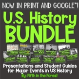 US History BUNDLE: PowerPoints PLUS Student Guides for Dis