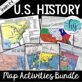 Us History Map Activities Bundle By History Gal Tpt - War-between-the-states-us-history-map-activities