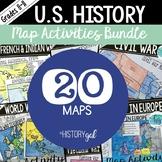 U.S. History Map Activities Bundle (Print and Digital)