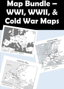 Map Bundle - WWI Map, WWII Map, Cold War Map