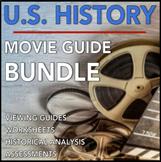U.S. History Movie Guide Bundle: Viewing Guides, Worksheet