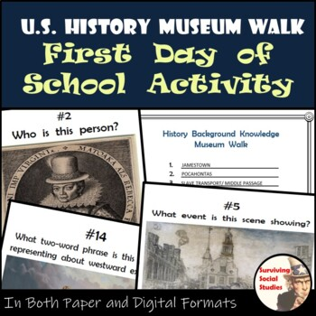 U.S History Museum Walk - First Day of School Activity