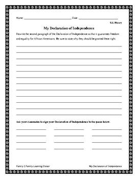 U.S. History-My Declaration of Independence