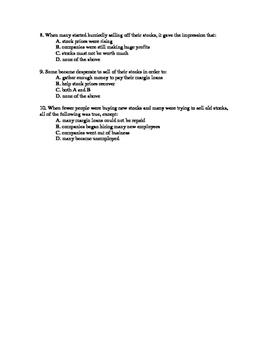 U.S History Notes & Quiz: Great Depression (part 1 of 3)