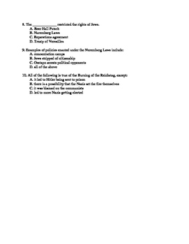 U.S History Notes & Quiz: Rise of Totalitarianism (part 1 of 2;Nazi Germany)
