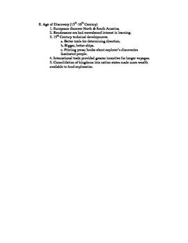 U.S History Notes w/ Accompanying Quizzes : FULL SCHOOL YEAR
