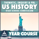 US History Thematic Inquiry PBL Full Course Bundle
