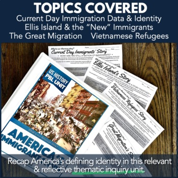 U.S. History PBL: Immigration & American Dream Unit