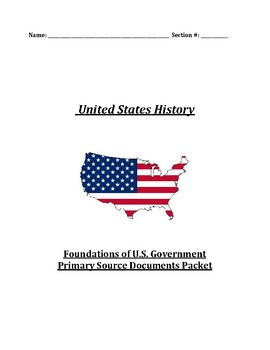 U.S. History Primary Source Documents Packet