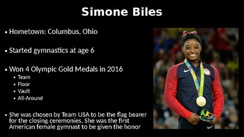 U.S. History- Professional Athletes & Olympians PowerPoint Lesson