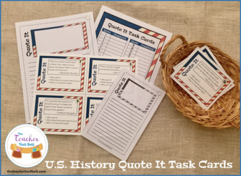 U.S. History Quote It Task Cards