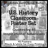 U.S. History Quotes Classroom Posters Bulletin Board Wall Decor Set