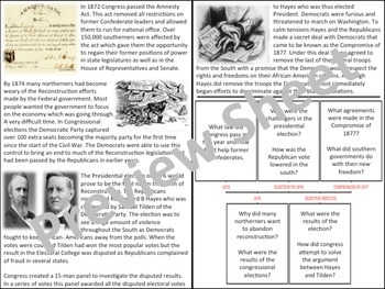 U.S. History - Reconstruction - End of the Reconstruction Era