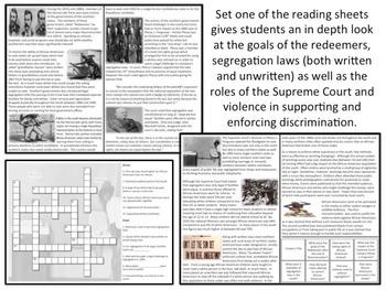 U.S. History - Reconstruction - Redeemers, Segregation & Jim Crow