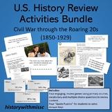 U.S. History Review Activities! Civil War through the Roar