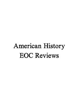 U S History Review Imperialism thru 2012 Set of 13 Reviews