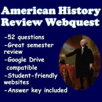 U.S. History Review Webquest with Infographic Websites